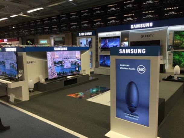 Validators meet het effect van Digital Signage voor Samsung