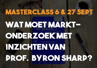 Masterclass: Wat moet marktonderzoek met inzichten Byron Sharp?