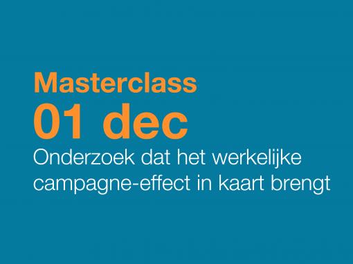 Masterclass datagedreven campagne effectonderzoek