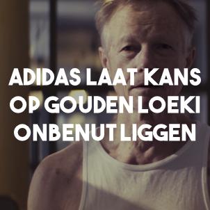 Adidas laat kans op Gouden Loeki onbenut liggen