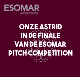Validators met Astrid Lubeck in de finale van de young ESOMAR Society Pitch Competition
