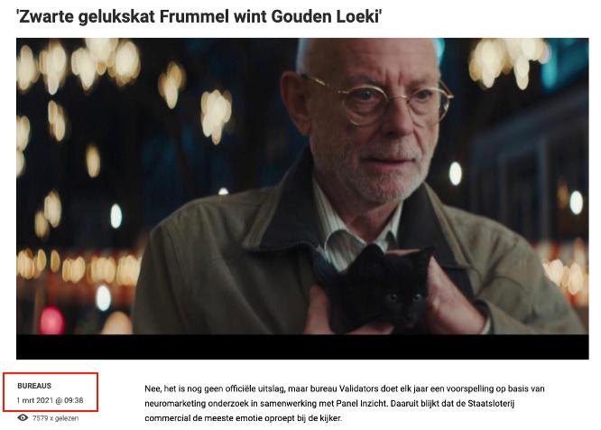 Gratis webinar 18 maart:'Hoe je met neuromarketing een Gouden Loeki wint'